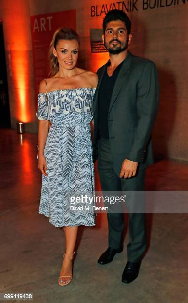 Katherine Jenkins and Andrew Levitas attend the Tate's Young Patrons Party at The Tanks at Tate Modern on June 21 2017 in London England