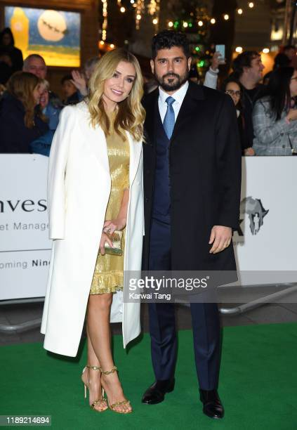 Katherine Jenkins and Andrew Levitas attend the Tusk Conservation Awards at The Empire Cinema on November 21 2019 in London England