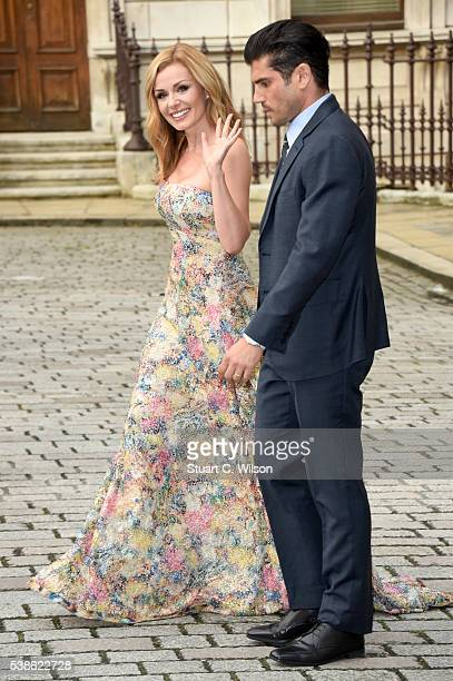 Katherine Jenkins and Andrew Levitas attend the VIP preview of the Royal Academy of Arts Summer Exhibition 2016 at Royal Academy of Arts on June 7...