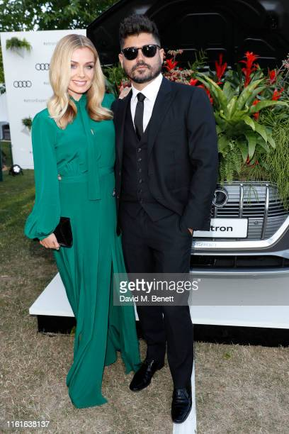 Katherine Jenkins and Andrew Levitas Audi guests at Henley Festival Oxfordshire Friday 12 July in HenleyonThames England