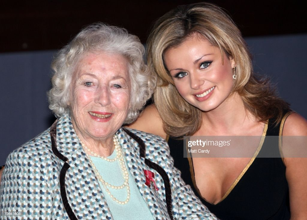 Katherine Jenkins and Dame Vera Lynn pose for pictures as she celebrates her 90th Birthday at the Imperial War Museum on March 20, 2007 in London. The Second World War 'soldiers sweetheart' was joined by Welsh singer Katherine Jenkins who herself has entertained the troops in Iraq and Kosovo.