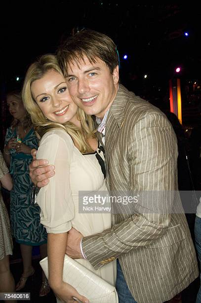 """Katherine Jenkins and John Barrowman attend the """"Joseph And The Amazing Technicolor Dreamcoat"""" first night after party on July 17th, 2007 in London."""