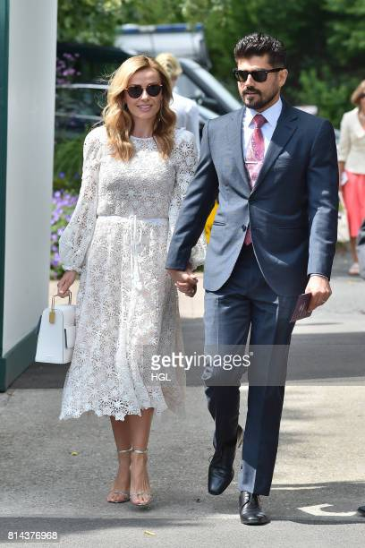 Katherine Jenkins Andrew Levitas seen at Day 11 of Wimbledon 2017 on July 14 2017 in London England