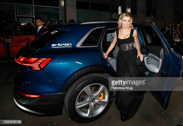 Katherine Jenkins arrive in Audi etron car for the Minamata premiere during the 70th Berlinale International Film Festival Berlin at...