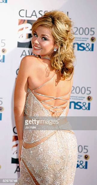 Katherine Jenkins arrives at the Classical Brit Awards 2005 the annual awards ceremony for classical music at the Royal Albert Hall on May 25 2005 in...