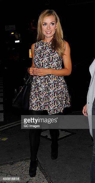 Katherine Jenkins arrives at The Ivy Club to perform a private gig on September 20 2014 in London England