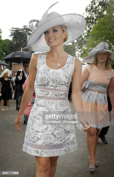 Katherine Jenkins arrives for Ladies Day during day three of the 2012 Royal Ascot meeting at Ascot Racecourse, Berkshire.