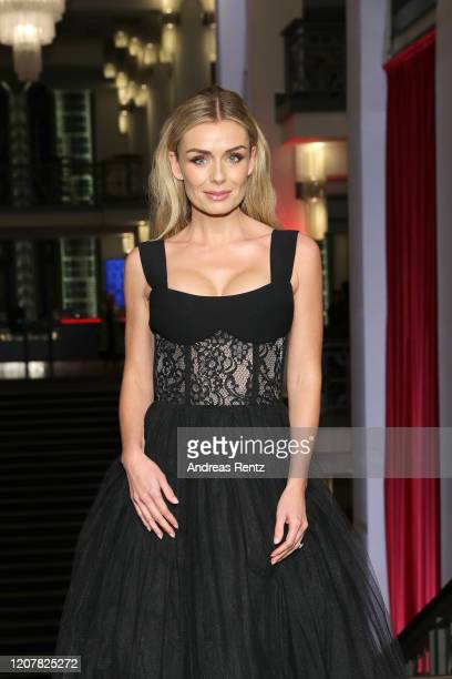 Katherine Jenkins arrives for the Minamata premiere during the 70th Berlinale International Film Festival Berlin at FriedrichstadtPalast on February...