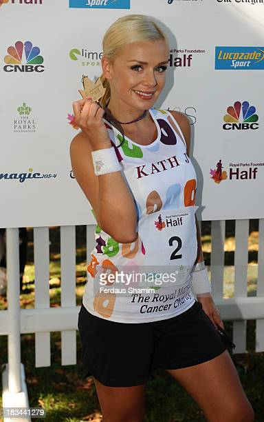 Katherine Jenkins attends a photocall ahead of taking part in the Royal Parks Foundation Half Marathon at Hyde Park on October 6 2013 in London...