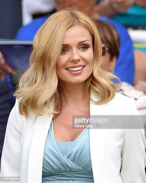 Katherine Jenkins attends day eight of the Wimbledon Tennis Championships at Wimbledon on July 7 2015 in London England