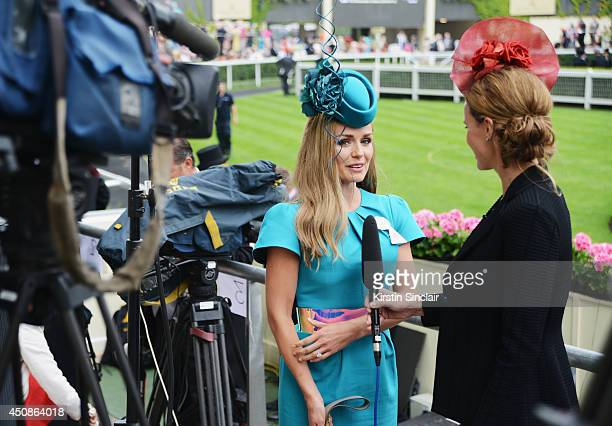 Katherine Jenkins attends day three of Royal Ascot at Ascot Racecourse on June 19 2014 in Ascot England