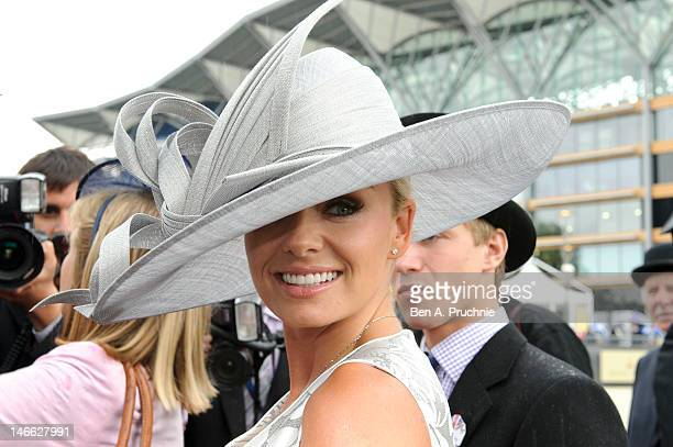 Katherine Jenkins attends Ladies Day of Royal Ascot at Ascot Racecourse on June 21 2012 in Ascot England