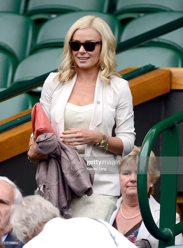 Celebrities Attend Wimbledon 2013 - Day 8