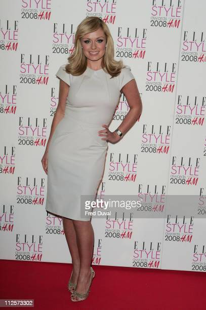 Katherine Jenkins attends the Elle Style Awards 2008 at the Westway off Latimer Road February 13 2008 in London England