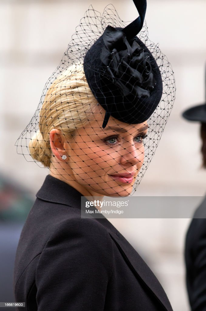 Katherine Jenkins attends the funeral of former British Prime Minister Baroness Margaret Thatcher at St Paul's Cathedral on April 17, 2013 in London, England. Dignitaries from around the world today join Queen Elizabeth II and Prince Philip, Duke of Edinburgh as the United Kingdom pays tribute to former Prime Minister Baroness Thatcher during a Ceremonial funeral with military honours at St Paul's Cathedral. Lady Thatcher, who died last week, was the first British female Prime Minister and served from 1979 to 1990.