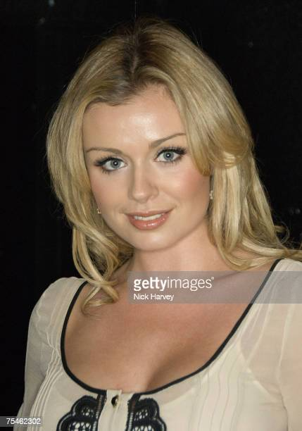 """Katherine Jenkins attends the """"Joseph And The Amazing Technicolor Dreamcoat"""" first night after party on July 17th, 2007 in London."""