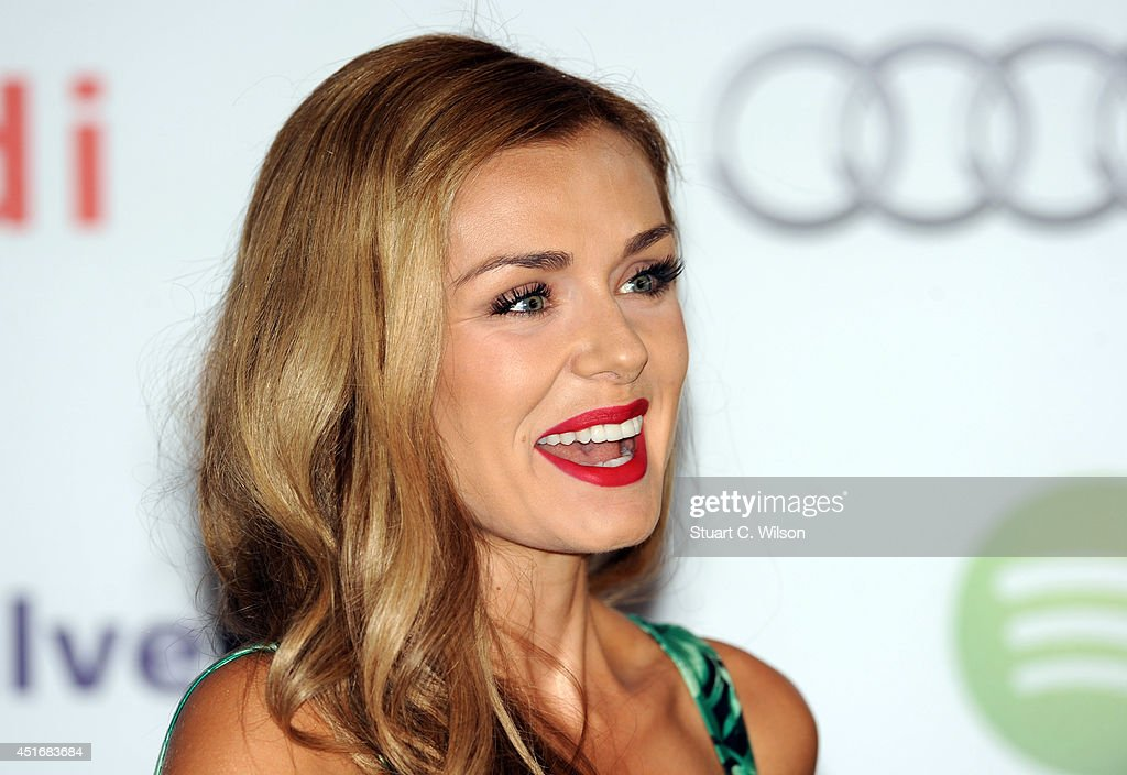 Katherine Jenkins attends the Nordoff Robbins 02 Silver Clef awards at London Hilton on July 4, 2014 in London, England.