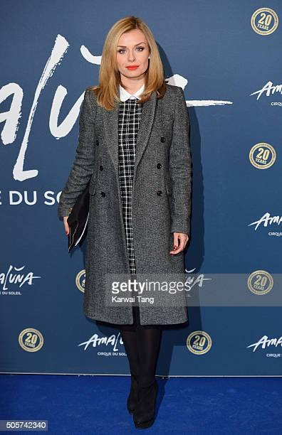Katherine Jenkins attends the Red Carpet arrivals for Cirque Du Soleil Amaluna at Royal Albert Hall on January 19 2016 in London England