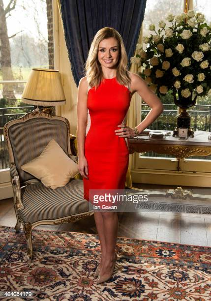 Katherine Jenkins hosts a breakfast for key press to announce her signing new deal with Decca Records at The Ritz on January 20 2014 in London England