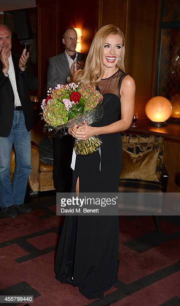 Katherine Jenkins OBE after her performance at The Club at The Ivy on September 20 2014 in London England