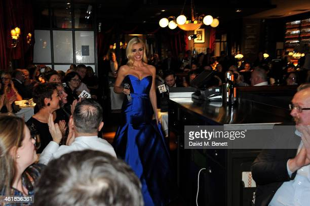 Katherine Jenkins performs at a Martell Very Special Nights event at Brasserie Blanc St Paul's hosted by Katherine Jenkins and Raymond Blanc on...