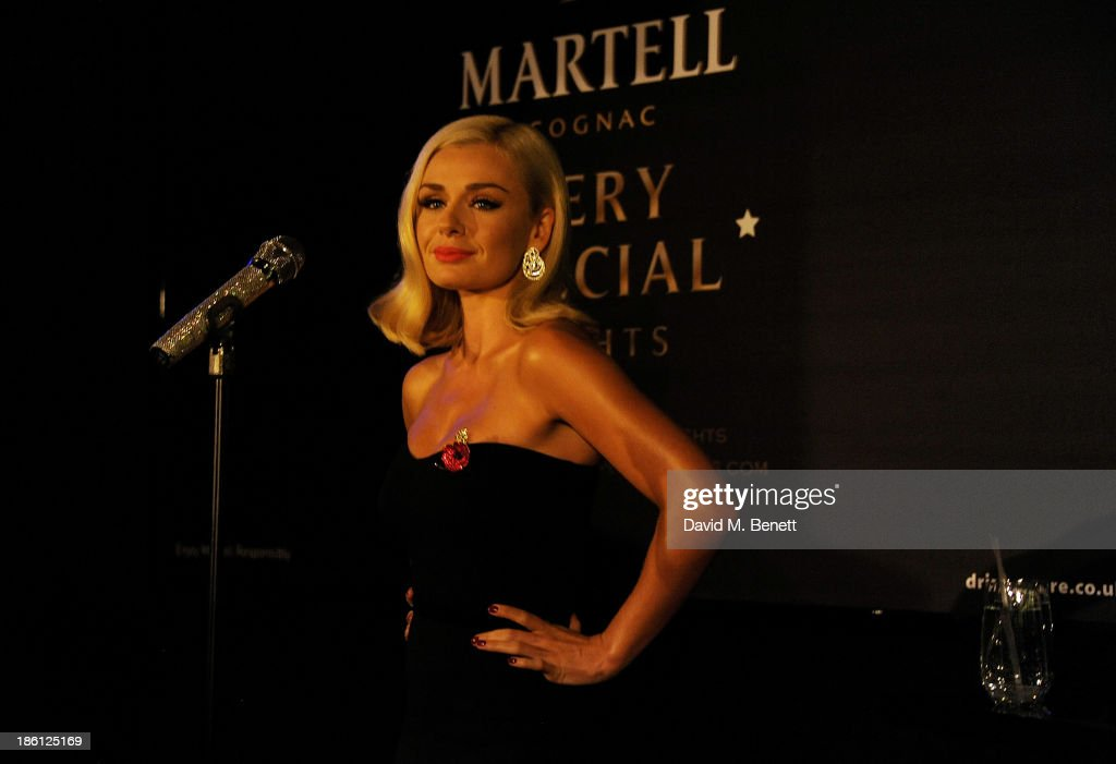 Katherine Jenkins performs at a party which she hosted with Raymond Blanc to celebrate the launch of Martell Very Special Nights, a series of very special events bringing you food by culinary visionary Raymond Blanc, music by award-winning mezzo soprano Katherine Jenkins and the ultimate Cognac, Martell, at Le Caprice on October 28, 2013 in London, England.