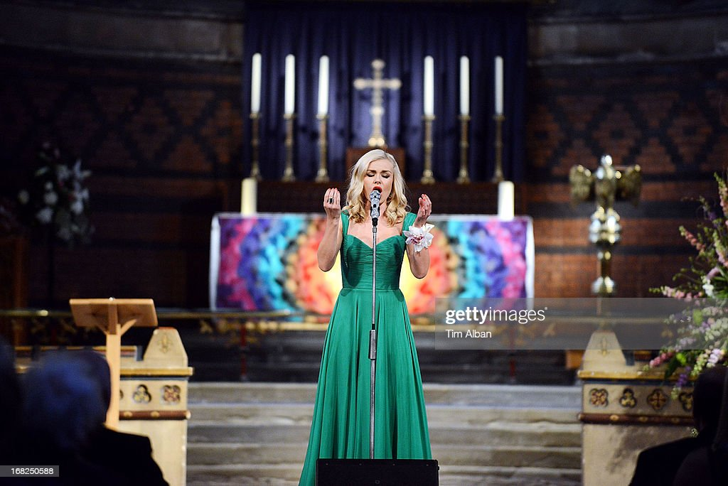 Katherine Jenkins performs at fundraiser at St David's Church, Neath, in aid of the St David's Church Tower Restoration Appeal on May 7, 2013 in Neath, Wales.