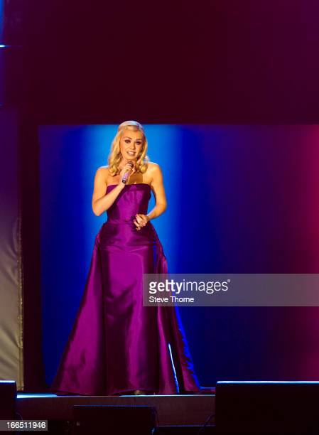 Katherine Jenkins performs at LG Arena on April 13, 2013 in Birmingham, England.