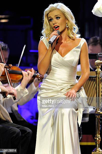 Katherine Jenkins performs at the Royal Albert Hall on December 10 2012 in London England