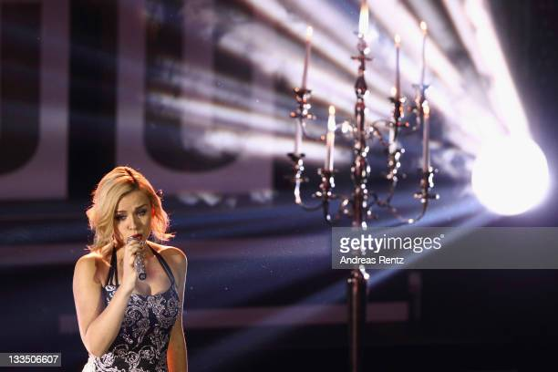 Katherine Jenkins performs during the 20th UNESCO charity gala at Maritim Hotel on November 19, 2011 in Duesseldorf, Germany.