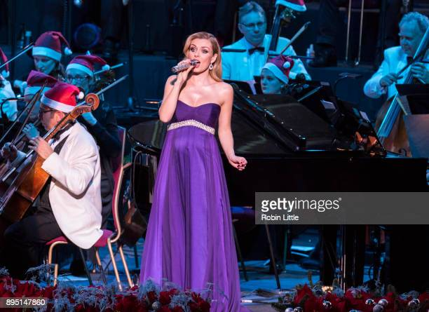 Katherine Jenkins performs in 'Christmas with Katherine Jenkins' live on stage at The Royal Albert Hall on December 18 2017 in London England