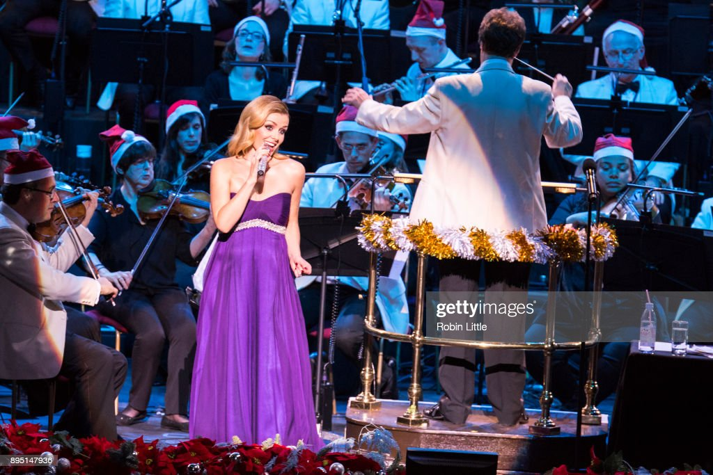Katherine Jenkins performs in 'Christmas with Katherine Jenkins' live on stage at The Royal Albert Hall on December 18, 2017 in London, England.