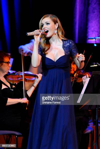Katherine Jenkins performs live on stage at Bridgewater Hall on December 14 2017 in Manchester England
