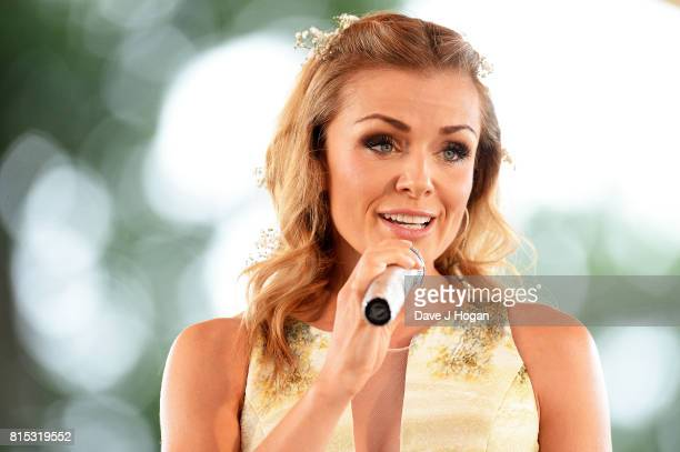 Katherine Jenkins performs on Day 4 of Latitude Festival at Henham Park Estate on July 16 2017 in Southwold England