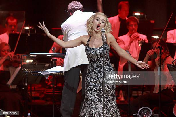 Katherine Jenkins performs on stage at Bridgewater Hall on February 1, 2012 in Manchester, United Kingdom.