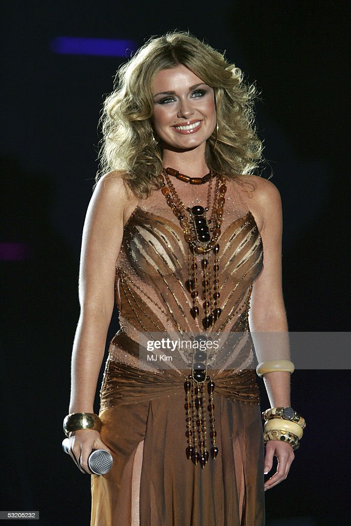 Katherine Jenkins performs on stage at the Live 8 Edinburgh concert at Murrayfield Stadium on July 6, 2005 in Edinburgh, Scotland. The free gig, labelled Edinburgh 50,000 - The Final Push, is organised by Midge Ure, alongside Geldof, and coincides with the G8 summit to raisie awareness for MAKEpovertyHISTORY.