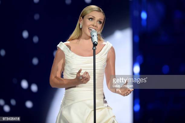 Katherine Jenkins performs on stage during the 2018 Classic BRIT Awards held at Royal Albert Hall on June 13 2018 in London England
