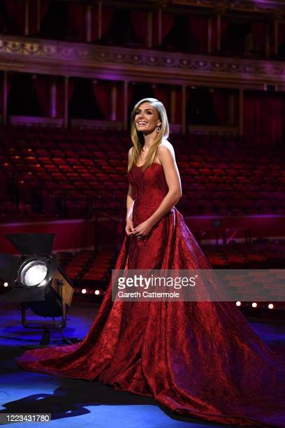 Katherine Jenkins poses ahead of a behindcloseddoors concert commemorating VE Day at Royal Albert Hall on May 07 2020 in London England Friday 8 May...