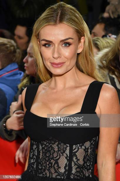 Katherine Jenkins poses at the Minamata premiere during the 70th Berlinale International Film Festival Berlin at FriedrichstadtPalast on February 21...