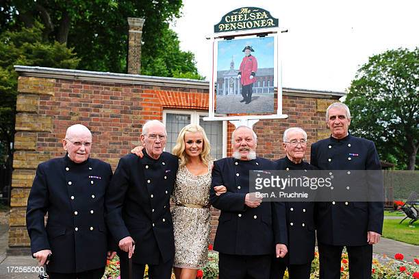 Katherine Jenkins poses for photographs after her performance for The Chelsea pensioners at Royal Hospital Chelsea on July 3, 2013 in London, England.