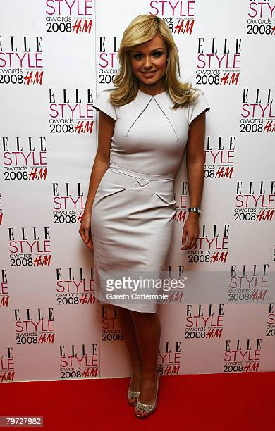 katherine Jenkins poses in the press room at the Elle Style Awards 2008 at The Westway on February 12 2008 in London England