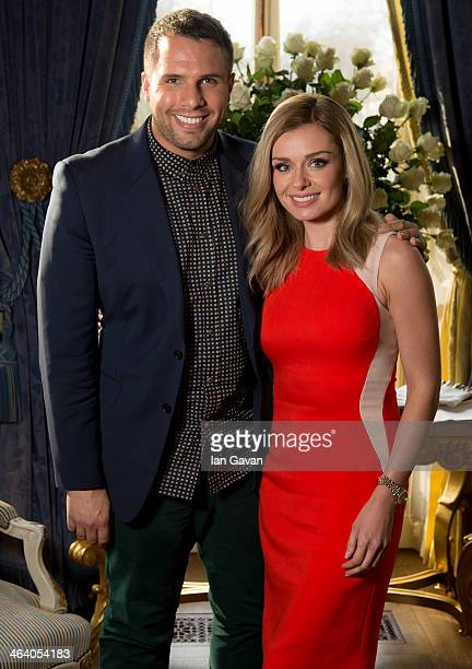 Katherine Jenkins poses with Dan Wootton during a breakfast for key press to announce her signing new deal with Decca Records at The Ritz on January...