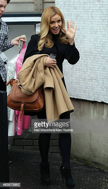 Katherine Jenkins seen at the ITV Studios after appearing on Loose Women on February 16 2015 in London England