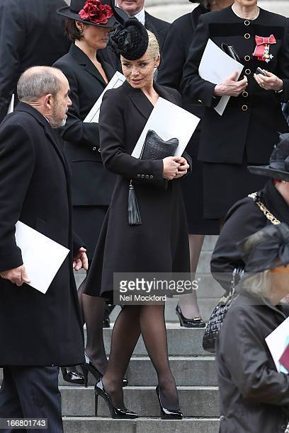 Katherine Jenkins seen attending Baroness Thatcher's Funeral at St Paul's Cathedral on April 17 2013 in London England