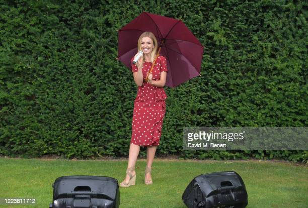 Katherine Jenkins sings through the rain to entertain care home residents with a special live streamed singalong powered by Vodafone on July 1 2020...