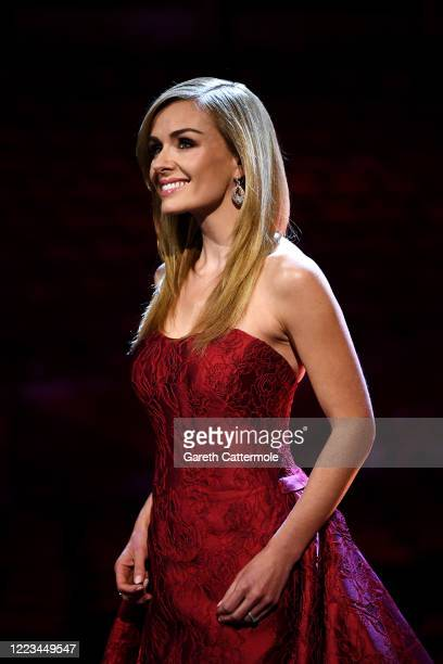Katherine Jenkins smiles ahead of a behindcloseddoors concert commemorating VE Day at Royal Albert Hall on May 07 2020 in London England Friday 8 May...