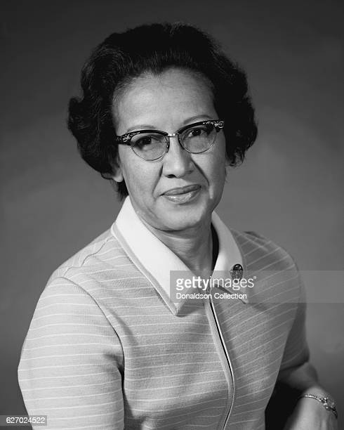 Katherine Johnson NASA physicist space scientist and mathematician based at NASA Langley Research Center poses for a portrait circa 1960 in Hampton...