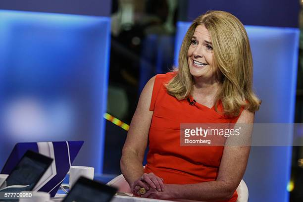 Katherine Katie Ellis Nixon chief investment officer of wealth management at Northern Trust Corp smiles during a Bloomberg Television interview in...