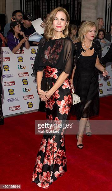 Katherine Kelly attends the Pride of Britain awards at The Grosvenor House Hotel on September 28 2015 in London England