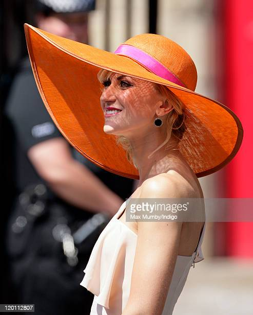 Katherine Kelly attends the wedding of Zara Phillips and Mike Tindall at Canongate Kirk on July 30 2011 in Edinburgh Scotland The Queen's...